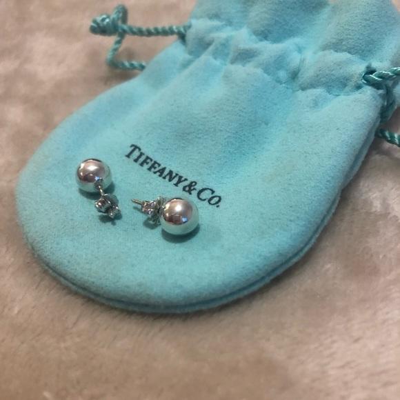 3e41d1e2a Tiffany & Co. Jewelry | Tiffany Co 8mm Sterling Silver Bead Earrings ...